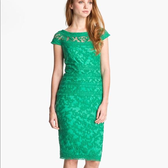 c7522ea8 Tadashi Shoji Dresses   Embroidered Lace Sheath Dress   Poshmark